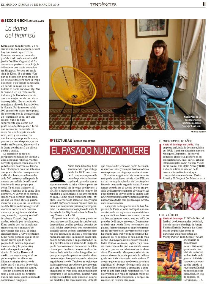 El Mundo - Tendències - Gemma Cuadrado -Los Féliz