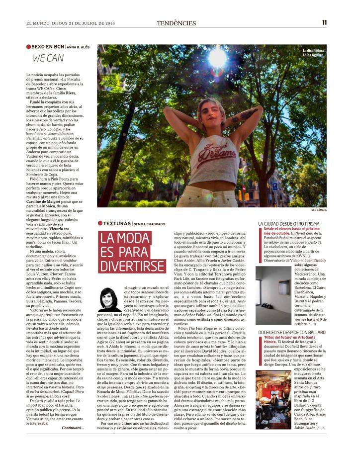 El Mundo - Tendències - Gemma Cuadrado - Ahida Agirre